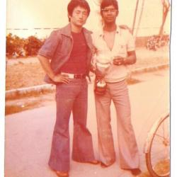 Me LEE Kwan Young et Me Chintaram Radha compétition Italie 1975